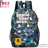 bags surroundings - GTA5 surrounding bag luggage backpack GTA PC game Grand Theft Auto PS3 games oxford Travel Backpack students youth schoolbag