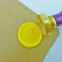 Wholesale Pineapple Wax Seal Stamp Sealing Wax Seal Tropical Fruit Stamp ws077