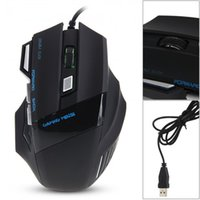 Wholesale 7D Button USB Wired Lighting Professional Gaming Mouse Mice DPI Black