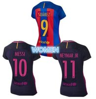 Wholesale new Top Quality Jerseys WOMEN MESSI ARDA A INIESTA SUAREZ SERGIO PIQUE I RAKITIC barcelona soccer jersey home and away shirt