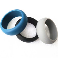 Wholesale Silicone Wedding Rings Men Women Flexible Rubber Ring mm Black Silicone Rings Outdoor Party Sports Party Rings