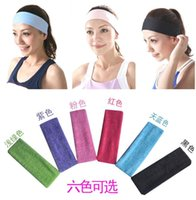 Wholesale Special sales Korean new candy colored towel material movement yoga hair care with a headband Random Color