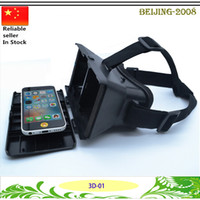 Wholesale Google D Glasses D Movies Games VR Box Head mounted Virtual Reality VR Resin Lens For iphone s plus D VR Glasses