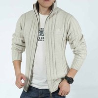 apparel cardigans - 9030Tracyexp Brand new Men winter clothing men sweaters Men s apparel Green Blue Beige M XL