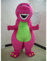 barney dresses - Profession Barney Dinosaur Mascot Costumes Halloween Cartoon Adult Size Fancy Dress