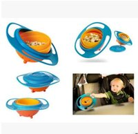 Wholesale Infant Baby Gyro Feeding Toy Bowl Dishes Kids Boy Girl Spill Proof Universal Rotate Technology Funny Gift Baby Accesories