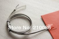 Wholesale Flexible Silicone Rubber Heater Silicon Mat mm W V w K type thermocouple S Steel braided sleeve wire