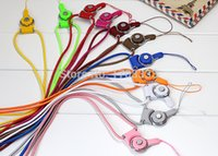 Wholesale Universal Detachable Nylon Mobile Phone Neck Straps Lanyard for ID Card Badge Cell Phone MP3 MP4 USB Flashlight