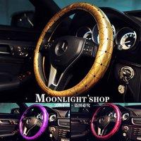 audi steering wheel cover - 2016 New Arrival Woman Dedicated Car Steering Wheel Cover Benz BMW Audi Passat cc Generic Purple Girls Fashion Creativity Personality