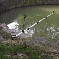 Wholesale 137CM Aluminum Alloy Telescoping Fishing Pole Hand Rod Holder Stand Bracket Adjustable Fishing Rod Holder Equipment Tool