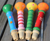 Wholesale Party Supplies Good quality Colorful Wooden Trumpet Buglet Hooter Bugle Educational Toy for Kids