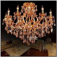 amber glass knobs - 13 lights Best selling Amber crystal chandelier light big glass chandelierssc MD8477