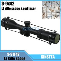 Wholesale New Arrival Tactical x42 LE Rifle Scope with Red Laser MM Tube Diameter For Outdoor Sport Hunting CS Wargame