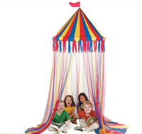 best circus - m High Real Big Top Circus Canopy Hanging Toy Tent For Children Play Game Tents Kids Birthday Party Decoration Baby Best Gift