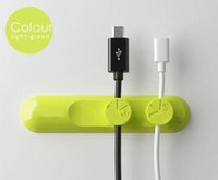 apple desktop case - Desktop cable clips magnetic cable organizer with retail package cable buckles magnetic desgin DHL