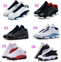 athletic stores - New Arrival Factory Store Mens Air Retro s Low Sneakers Retro XIII Cheap Men Basketball Shoes White Black Athletic Shoe