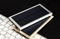 Wholesale Ultra thin mobile solar power source polymer batteries cell phone universal gobbledygook charging treasure