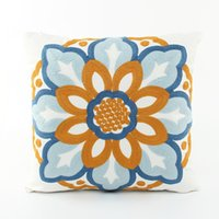 beautiful pillowcases - High Quality Classic Luxury Europe Style Designed Beautiful Flower Sofa Cushion Decorative Throw Pillow and Pillowcase WP264