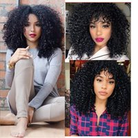afro curl wig - high Quality heat resistant fiber Afro curl kinky curly Synthetic lace front wig for Black Women Curly lace front wig