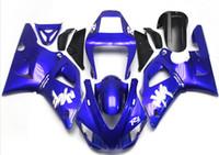 al por mayor yamaha motocicleta azul-Nuevos kits calientes del carenado del ABS de la motocicleta de las ventas el 100% cabido para YAMAHA YZF-R6 98-02 YZF600 1998 1999 2000 2001 2002 YZF R6 blanco agradable azul Color