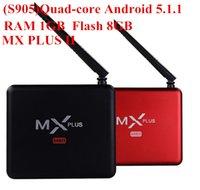 Wholesale 2016 New Original Mx Plus II Android TV Box S905 Quad core ARM Cortex A53 G G ROM KODI