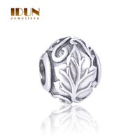Wholesale 925 Sterling Silver Beads Vintage tree of life Charms beads For European Bracelets Jewelry Making women Fine Jewelry T188