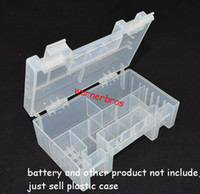 aa battery organizer - 10pcs Home Organization box Bins AA AAA battery storage case box battery cell Transparent Plastic Organizer Holder Container box