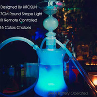 alkaline base - AAA Alkaline Battery Powered Submersible Hookah Glass Smoking Shisha LED Light Base With Remote Controller