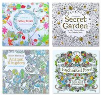 big children books - PrettyBaby secret garden coloring book painting drawing book Pages Animal Kingdom Enchanted Forest Relieve Stress For Children Adult b305