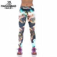 Wholesale Lady Yoga pants Fitness service lady winter outdoor running pants digital print Yoga Pants A