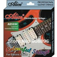Wholesale NEW Alice Colorful Electric Guitar Strings AE535C Coated Steel strings