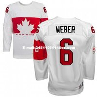Cheap Retro throwback #6 SHEA WEBER Team Canada Jersey OLYMPIC HOCKEY free shipping Customize any size player name number