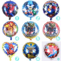 Wholesale 18 inch Cartoon Spiderman Iron Man Batman Superman Balloon for Wedding Birthday Party Supplies Decoration Halloween Foil Balloons