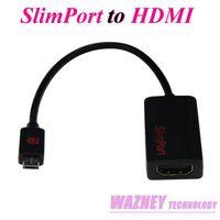Wholesale 100pcs P D SlimPort MyDP to HDMI Adapter for Google Nexus4 LG optimus Gpro Fujitsu Arrows Tab ASUS Padfone infinity