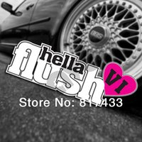 Wholesale 10pcs High Quality PVC Adhesive JDM VI Hellaflush Graffiti Stickers For Car Body Stickers Accessories