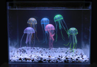 artificial jellyfish - 10cm cm Artificial Glowing Jellyfish with Sucker Fish Tank Aquarium Decoration Aquarium Ornaments Accessories colors for choices