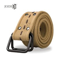 Wholesale JOZSI armor fashion men s outdoor cotton weaving canvas belt Nylon belt B1100 leisure