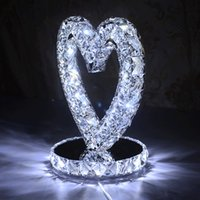Wholesale Creative heart bedroom bedside lamp dimmable table lamp bedside lamp wedding gifts White Warm white