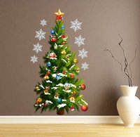 Wholesale New foreign trade Christmas decoration Christmas trees waterproof wall stickers custom murals in the New Year wall of setting of the