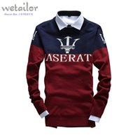 men knitted sweaters - Hot Selling Fashion Sweater Man Maserati Warm men Knitted men Sweaters Casual outdoor sport Plus Size men Pullover sweater