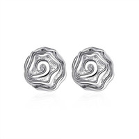 Wholesale Sterling Silver Earring Fine Fashion Cute Rose Stud Earrings Silver Jewelry Earring Top Quality SMTE003