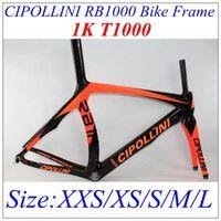 Wholesale Cipollini RB1000 Full Carbon Fiber Bike Frames K Wave White Silver Glossy Matt Finish Cycling Frame Set Provide Size XXS XS S M L