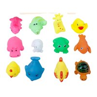Wholesale new arrival colors small animal vocalization baby child bath toys WJ090