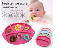 Wholesale Cute Dish Shape Fruit Plate FDA Silicone Baby Placemat Baby Mat for kid Infant Tableware Christmas Gifts