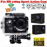 Wholesale 2016 New Arrivals F71 Action Camera WiFi HD P inch LCD MP Camera Sports m Waterproof degree wide angle Scuba Cam VS SJ7000