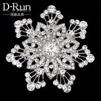 anchor diamonds - Free postage new fashion wedding crystal rhinestone snowflake brooch pin brooch buck alloy plating trade commission