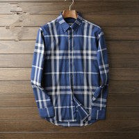 Wholesale New brand of winter domestic business and leisure men long sleeve shirt classic plaid cotton cultivate one s morality shirt