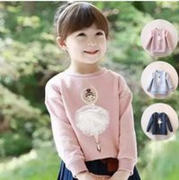 ballerina clothes - 2016 Spring Girl s Fleece Sweater Hoody Freshness Ballerina Moppet year old Princess Kids Children s Garments Wear Clothing ja