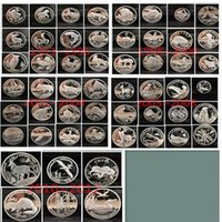 art data - 54 set The brand new Rare full set Russia animal1993 Russian Red Data Book wildlife silver plated coins