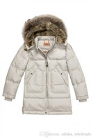baby argyle - LONG BEAR coat baby girl kids boys children winter fashion casual jecket in women outerwear fur collar Parka outdoor with tags